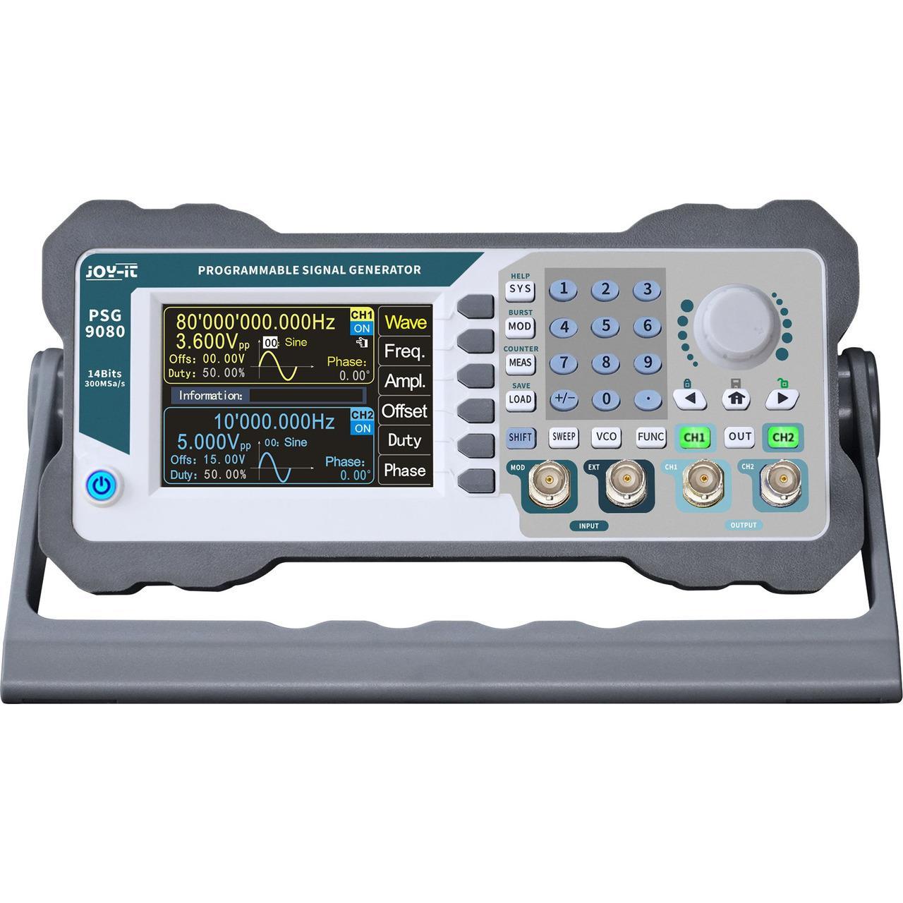 Joy-IT Programmierbarer Signalgenerator JT-PSG9080 mit Frequenzzähler, Frequenzbereich 1 nHz-80 MHz
