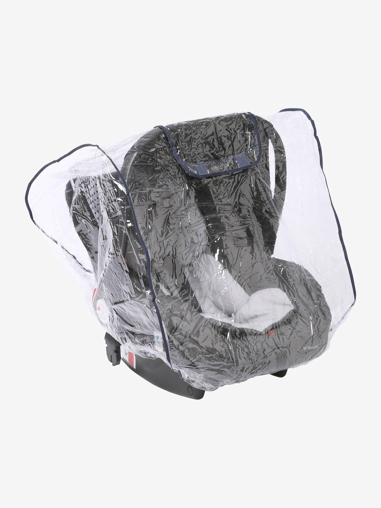 Regenschutz für Babyschalen transparent von vertbaudet