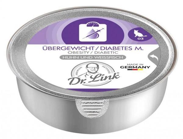 Dr. Link Katzenfutter Übergewicht / Diabetes mit Huhn und Weißfisch - 85 g