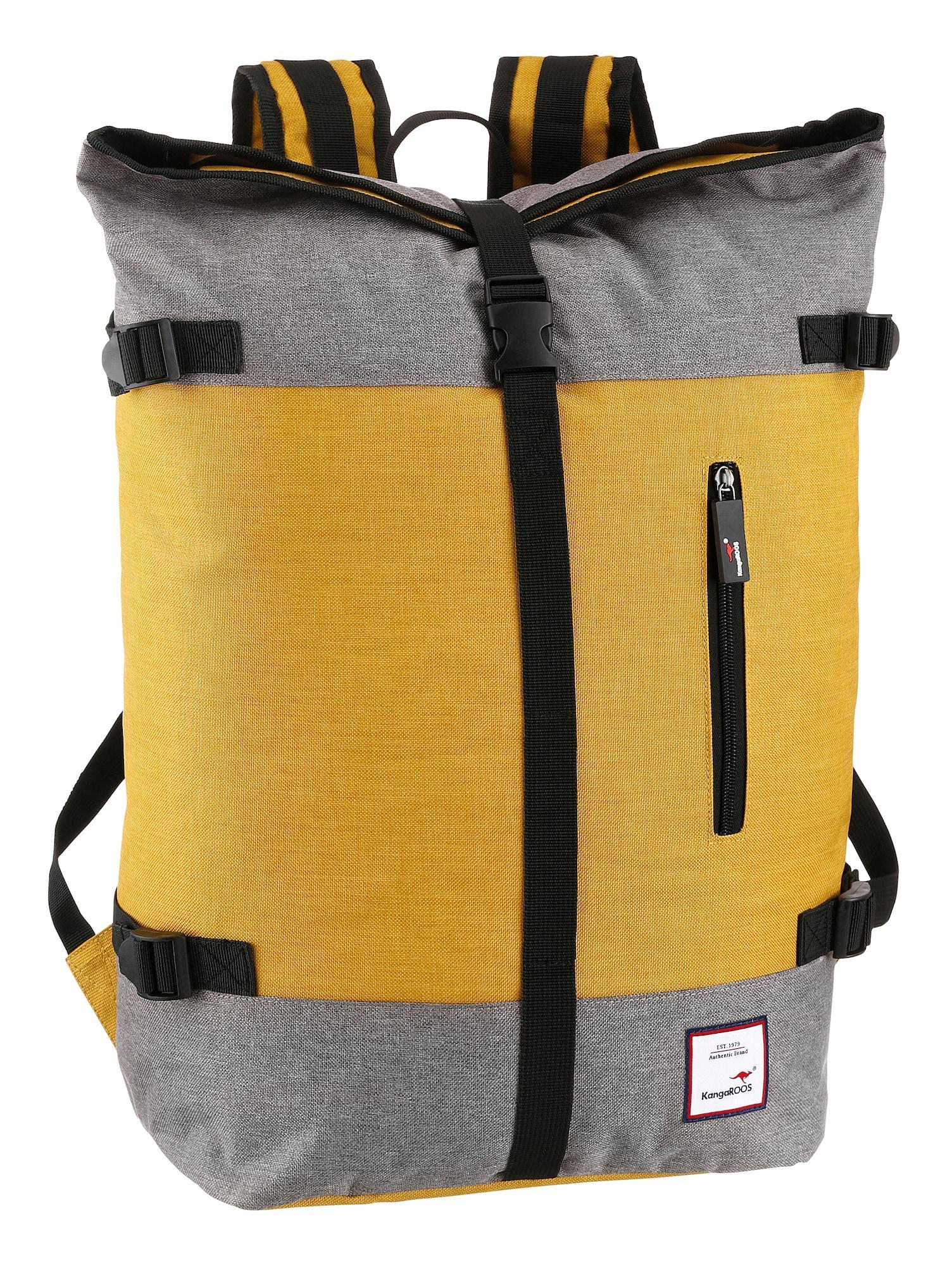 KangaROOS Rucksack gelb / grau
