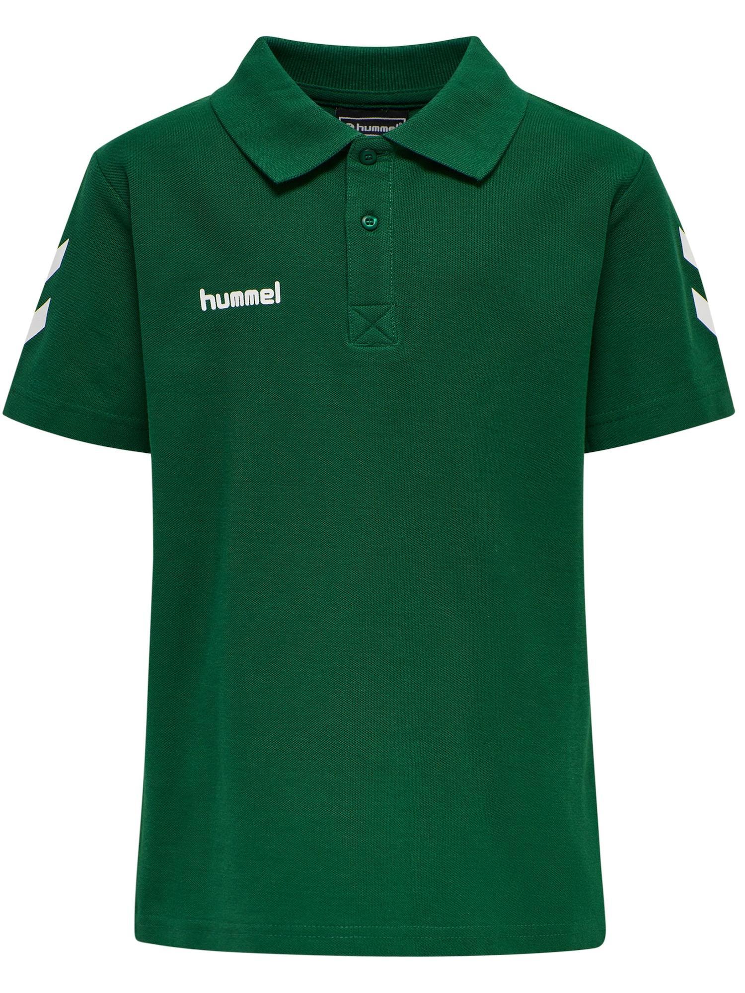 Hummel Poloshirt grün / weiß