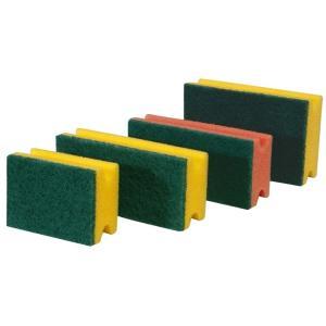 Meiko Padschwämme Scheuerschwamm, PU-Schwamm, Format: 15 x 9 x 4, Farbe: gelb/grün