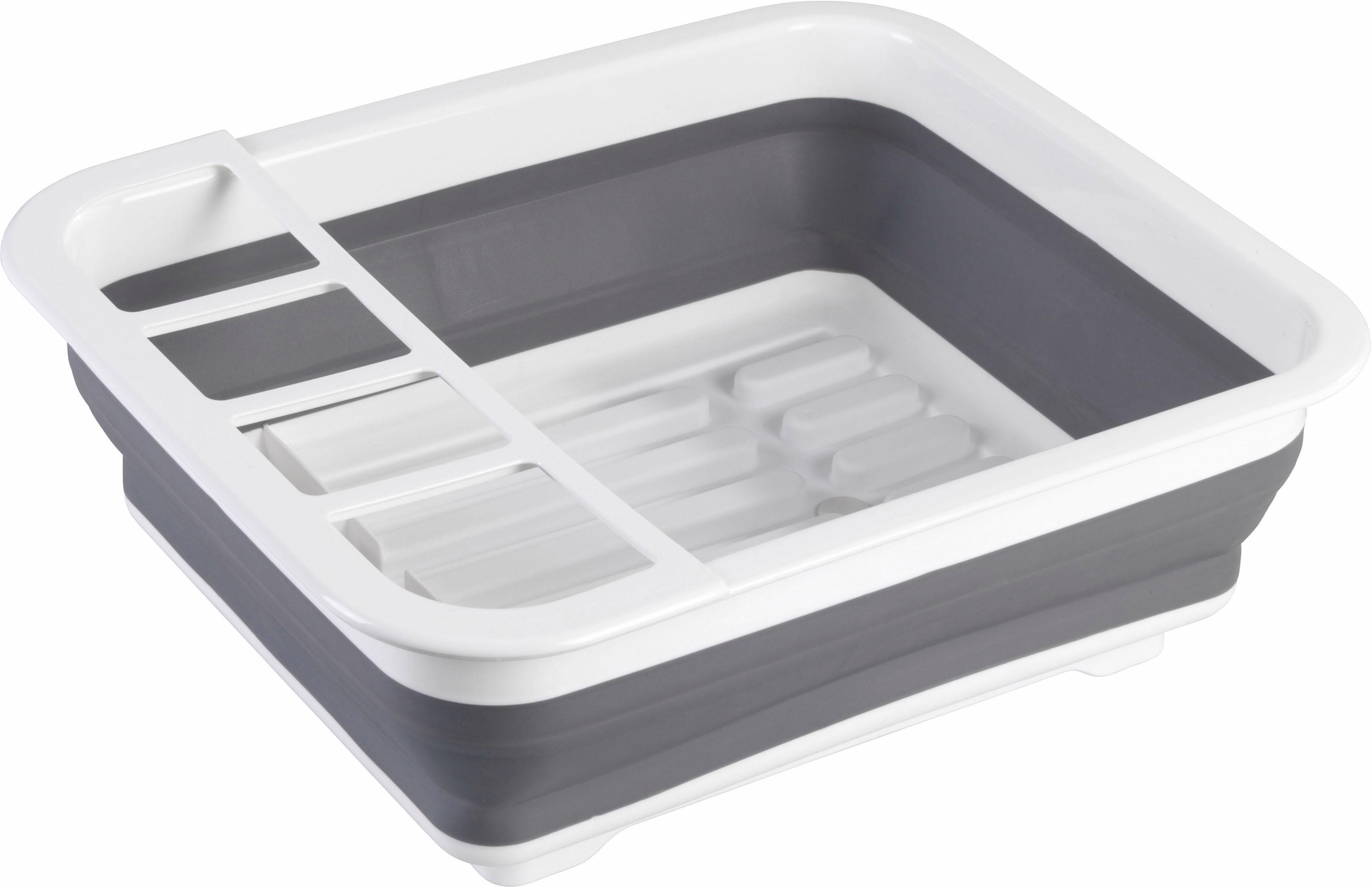 WENKO Geschirrständer, Maße ca.: 36,5 x 31 13 cm grau Küchenaccessoires Wohnaccessoires Geschirrständer