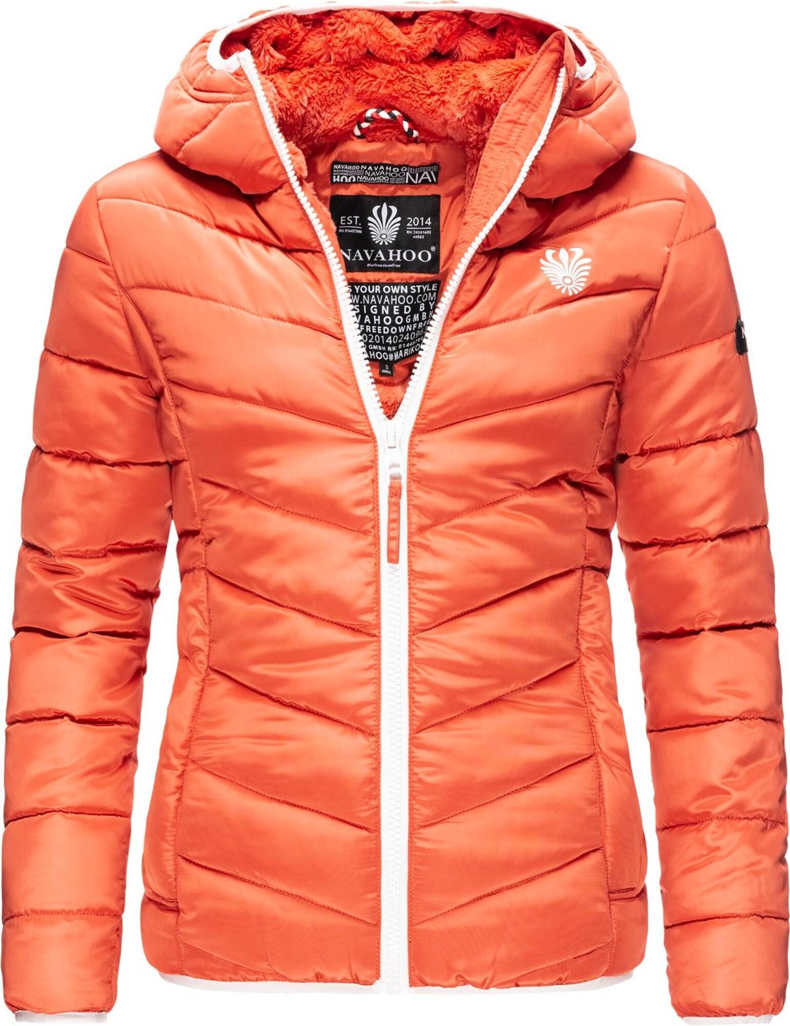 NAVAHOO Winterjacke ' Elva ' orange / weiß