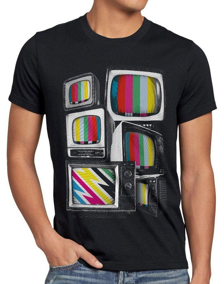 style3 Print-Shirt Herren T-Shirt Testbild big bang TV monitor theory retro fernseher heimkino vhs kino