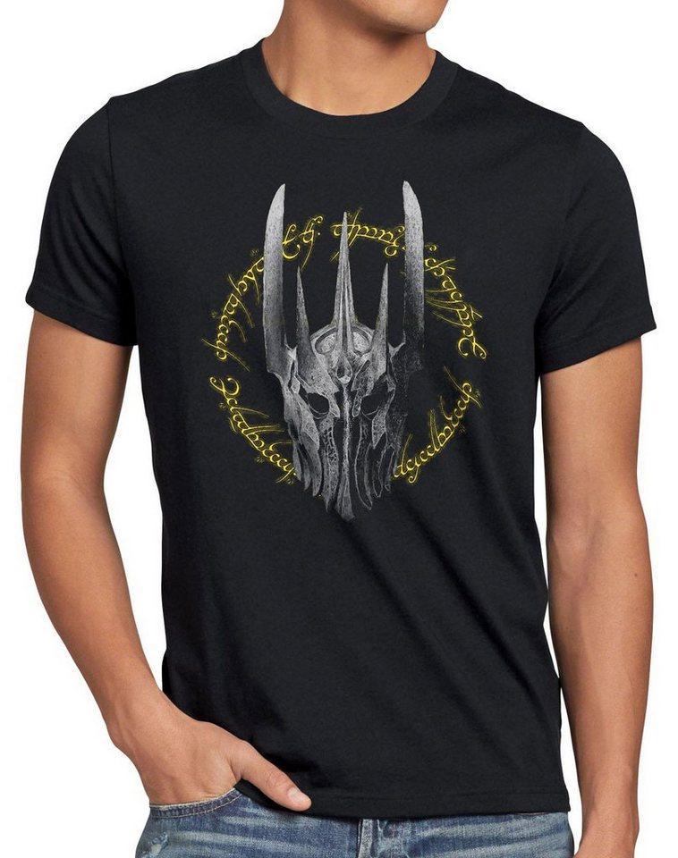 style3 Print-Shirt Herren T-Shirt Dunkle Ringe Der Lord Neuseeland Blu-Ray Triologie Herr Auenland