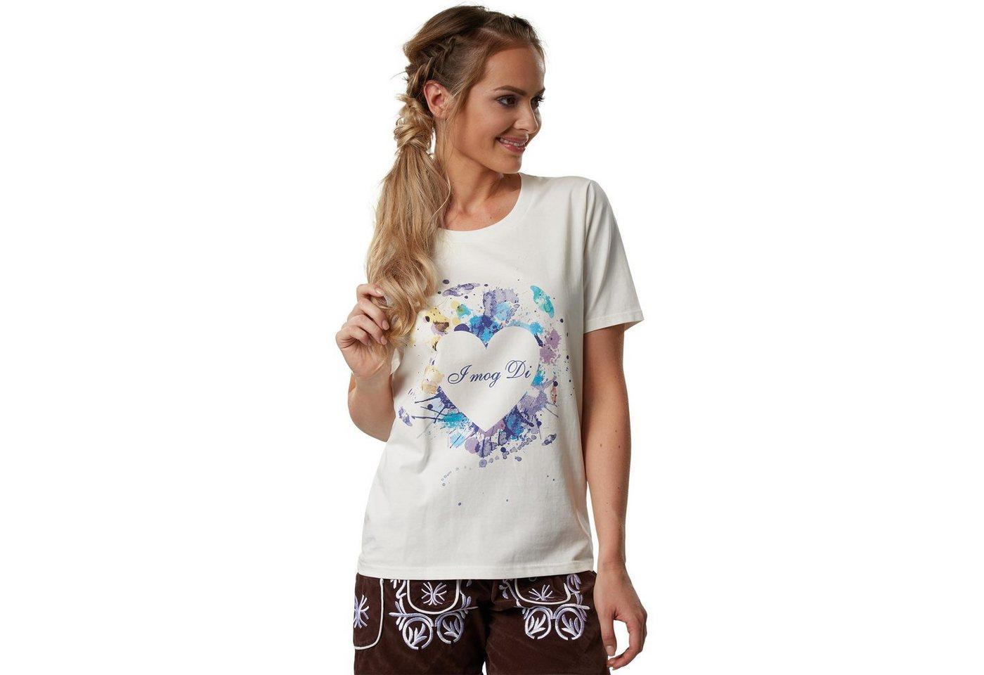 tectake T-Shirt »T-Shirt Herzilein« (1-tlg)