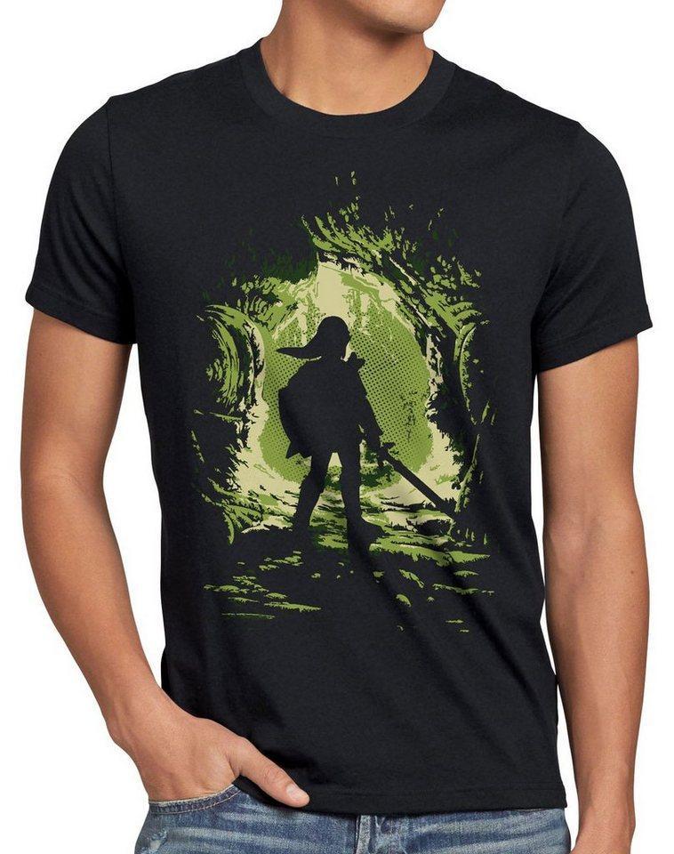 style3 Print-Shirt Herren T-Shirt Link Explorer boy hyrule gamer switch Hyrule game Wind Waker, schwarz