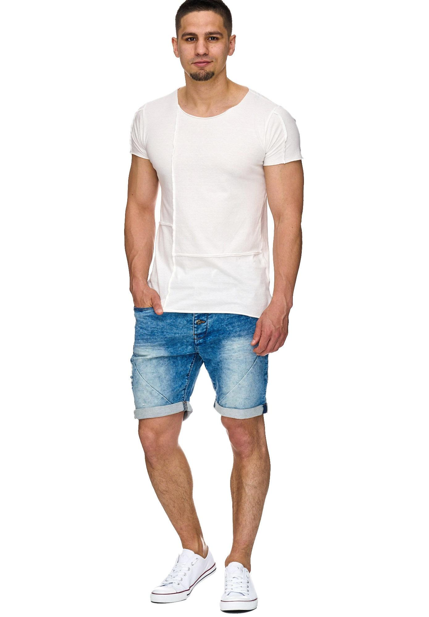 INDICODE JEANS Shorts 'Piano' blue denim