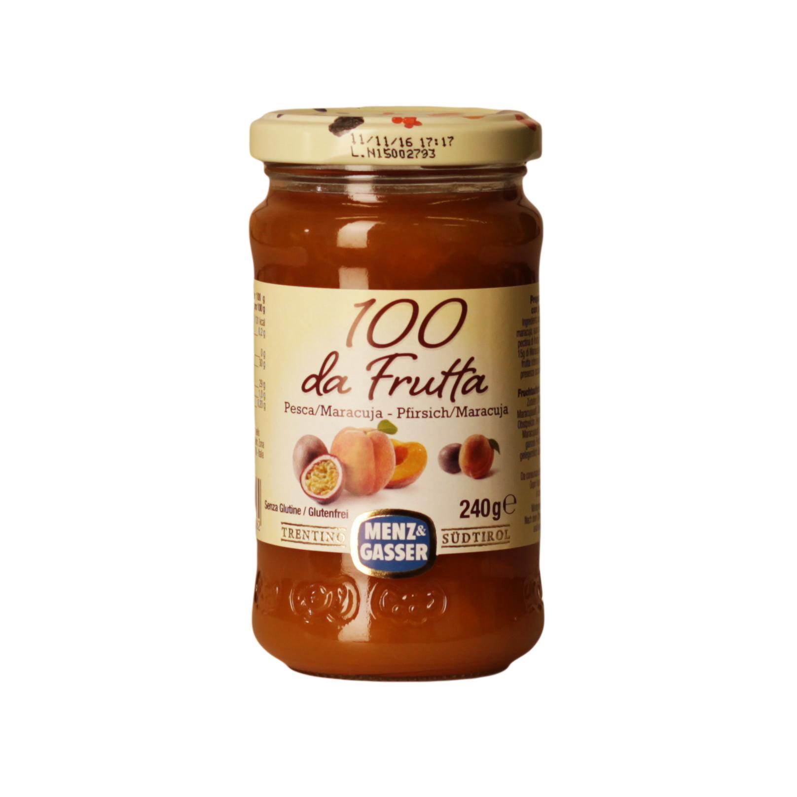 Menz & Gasser 100 % da Frutta Pesca e Maracuja 240 g