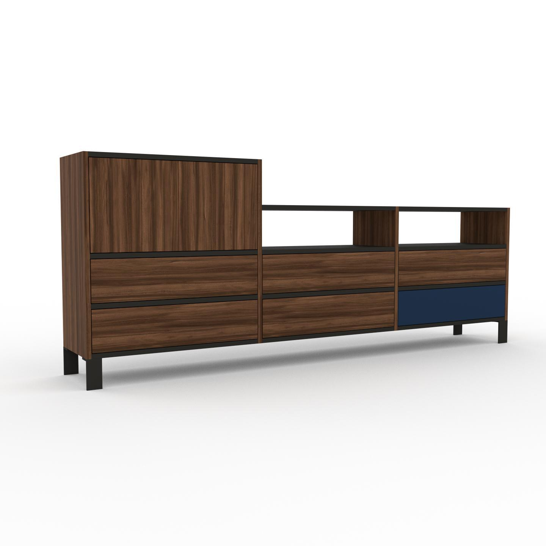 Sideboard Nussbaum - Sideboard: Schubladen in Nussbaum & Türen in Nussbaum - Hochwertige Materialien - 226 x 91 x 35 cm,...