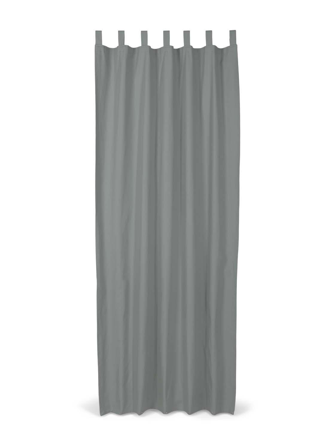 TOM TAILOR Unisex Schlaufenschal Vorhang Unifarben, grau, Gr.140/255
