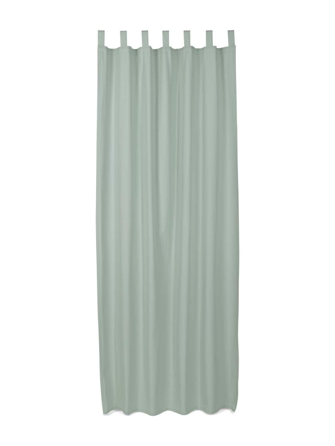 TOM TAILOR Unisex Schlaufenschal Vorhang Unifarben, grün, Gr.140/255