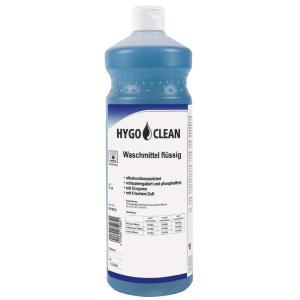 HYGOCLEAN Waschmittel flüssig, Flüssigwaschmittel für hygienische Sauberkeit und fasertiefe Reinheit, 1 Liter – Flasche