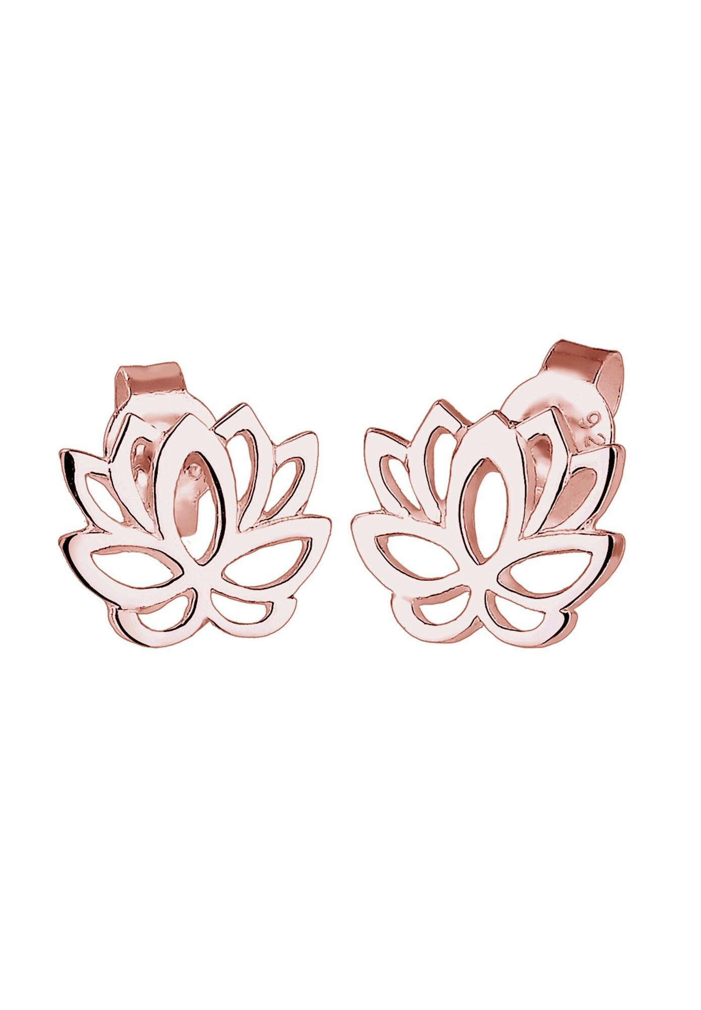 ELLI Ohrringe 'Lotusblume' rosegold