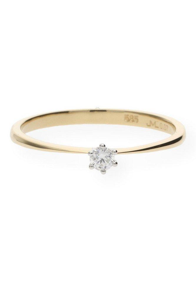 JuwelmaLux Verlobungsring »Verlobungsring Gold Damen mit Diamant(en)« (1-tlg)