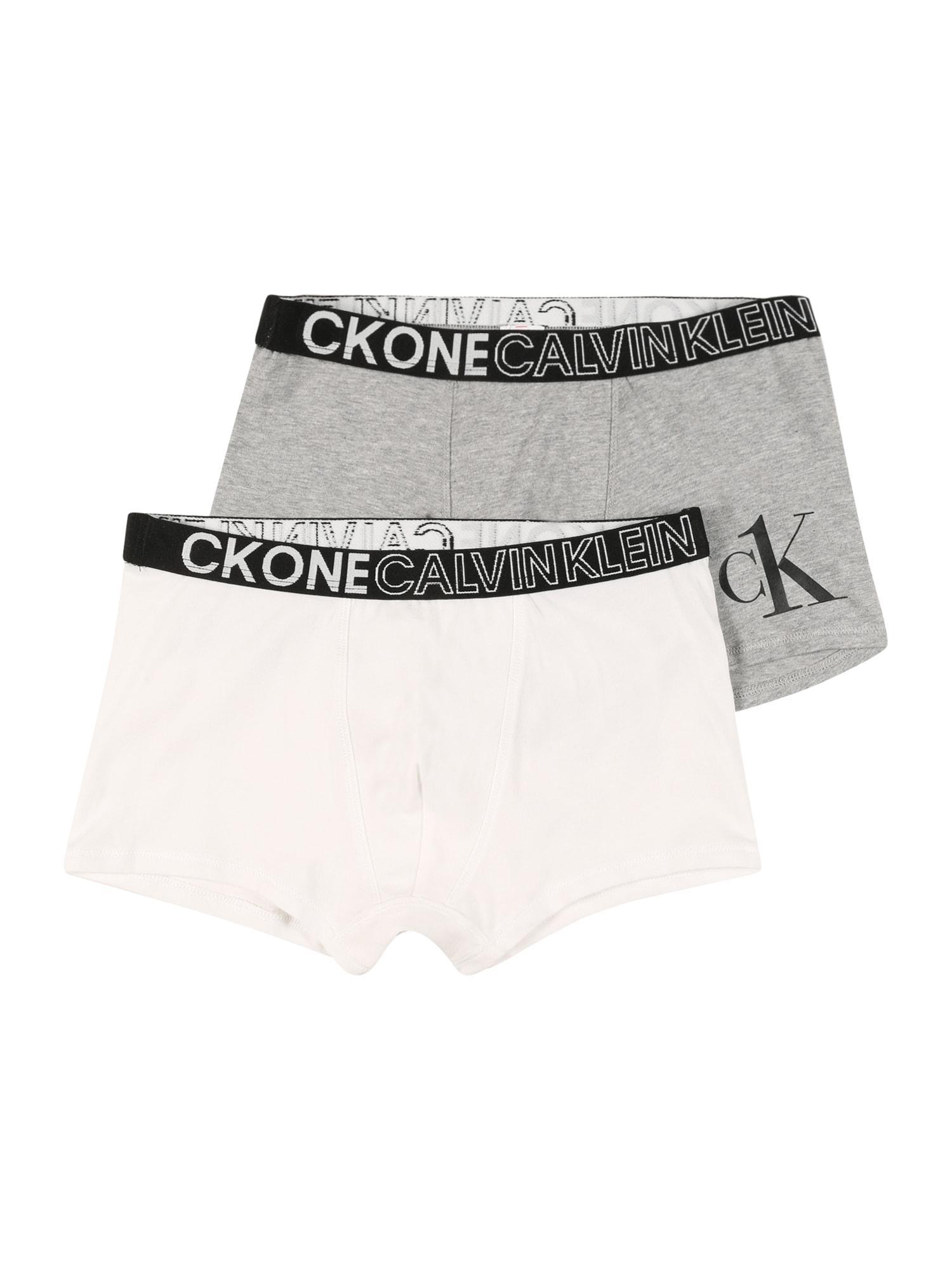 Calvin Klein Underwear Unterhose grau / weiß