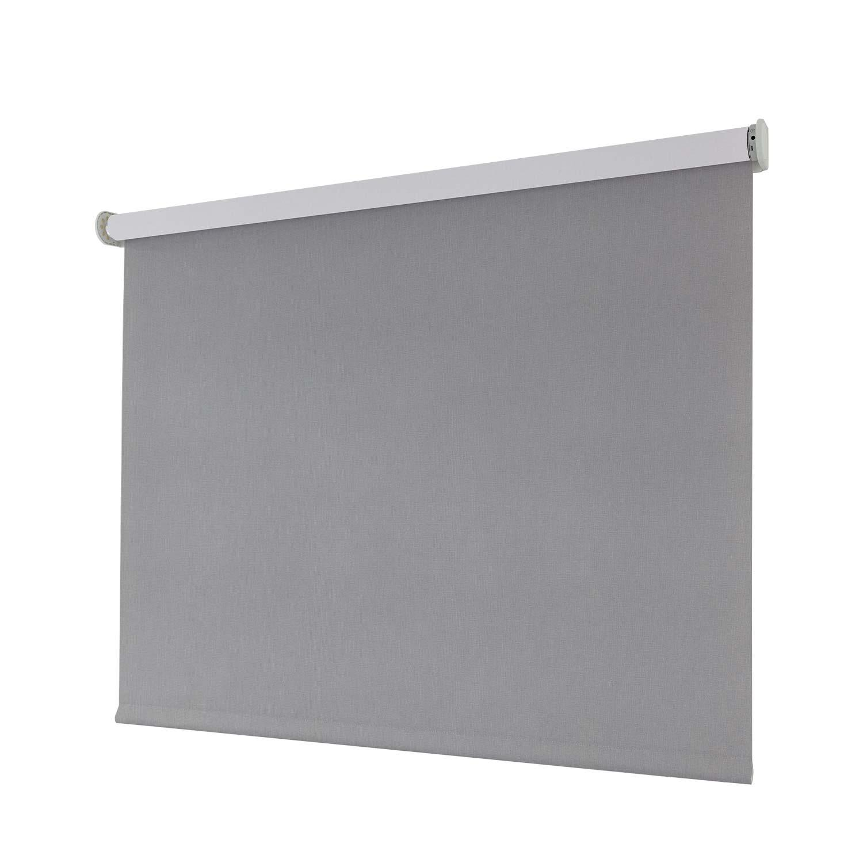 Smartes Sonnenschutz-Rollo, blickdicht - grau 80x230cm