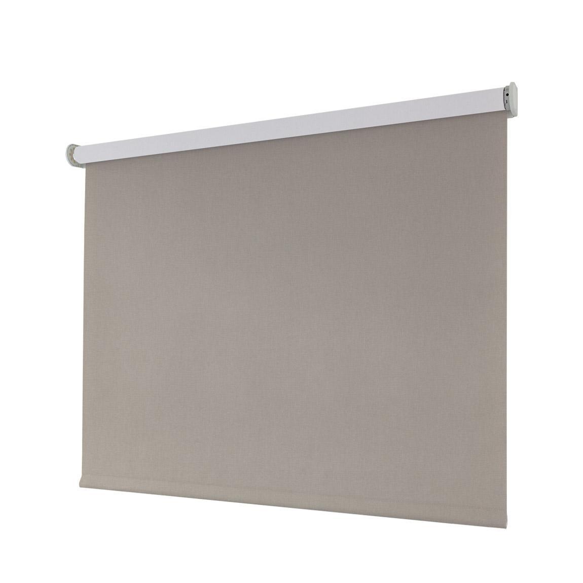 Smartes Sonnenschutz-Rollo, blickdicht - sand 80x230cm