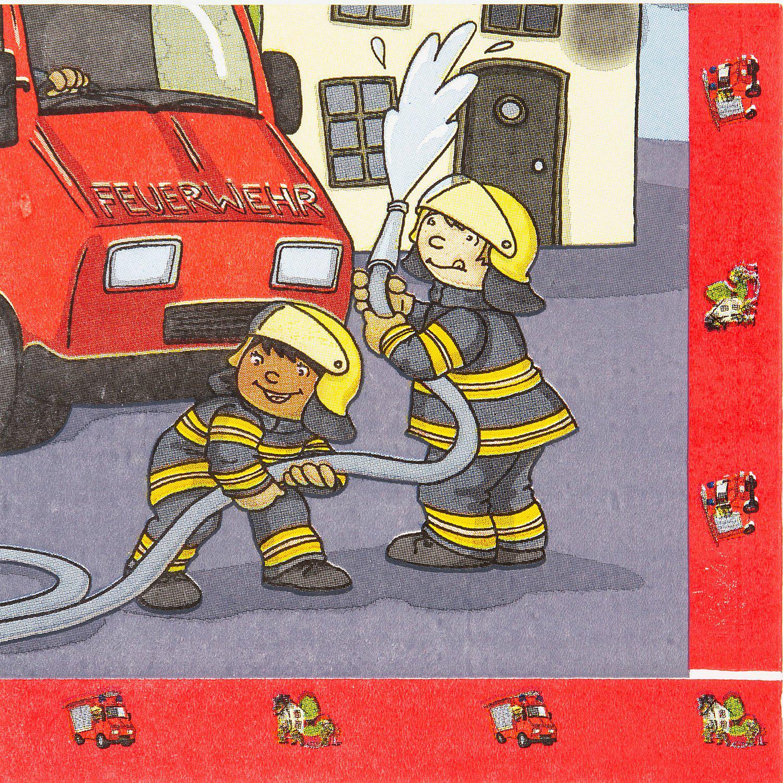"""Servietten """"Feuerwehr"""", 20 Stück"""