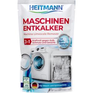 HEITMANN Maschinen-Entkalker 3 in 1, Spülmaschinenreiniger entkalkt, reinigt und sorgt für hygienische Sauberkeit, 175 g - Beutel