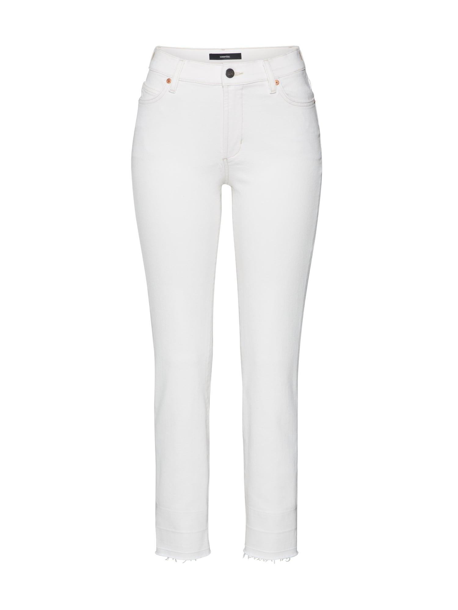 Someday Jeans 'Cadey' white denim