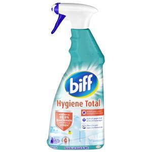 biff Hygiene Total Badreiniger, Sorgt für hygienische Sauberkeit im Bad, 750 ml - Sprühflasche