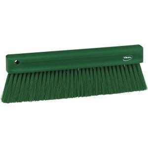 Vikan Mehlbesen, weich, 300 mm, Spezialbesen zur Entfernung feinster Partikel, Farbe: grün