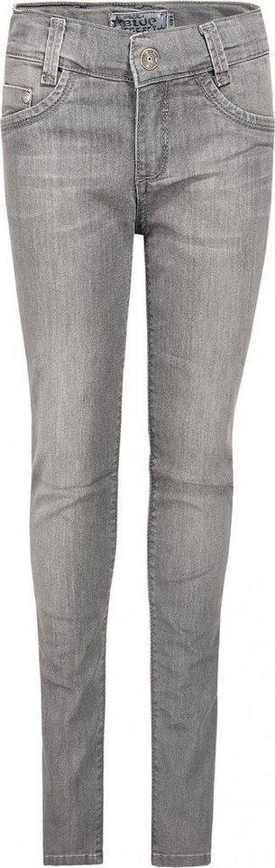 BLUE EFFECT Comfort-fit-Jeans Jeggings Bundweite weit Plus-Größe, grau