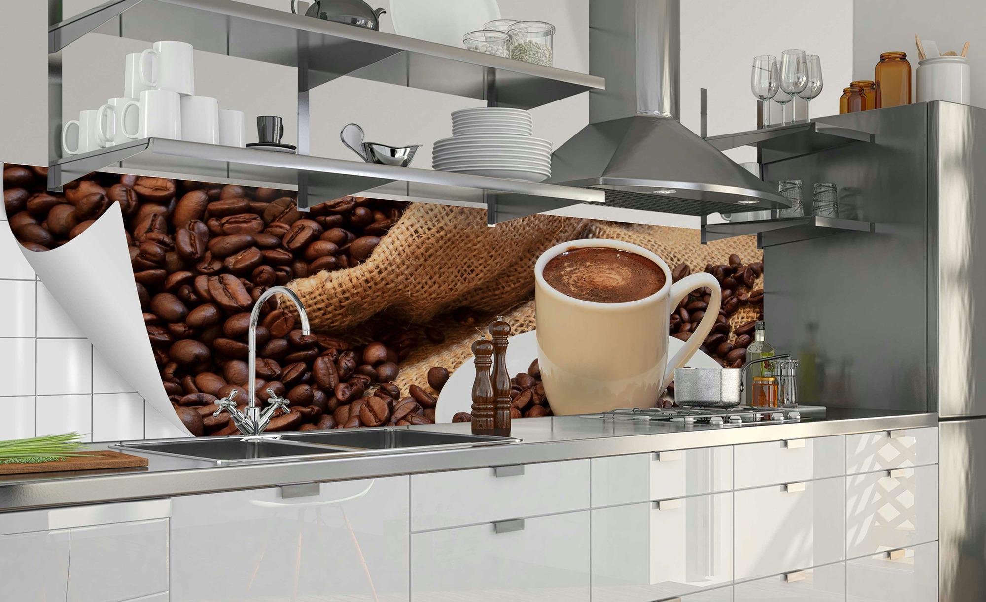 Küchenrückwand-Folie Fixy Kaffeepause - Sconto