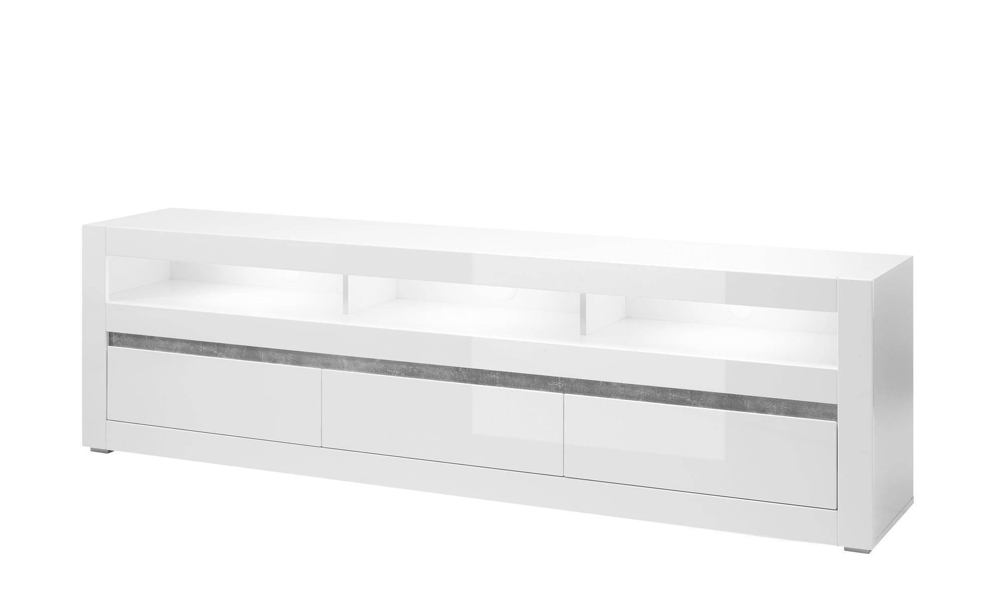 Lowboard Carat - weiß - 217 cm - 63 cm - 42 cm - Sconto