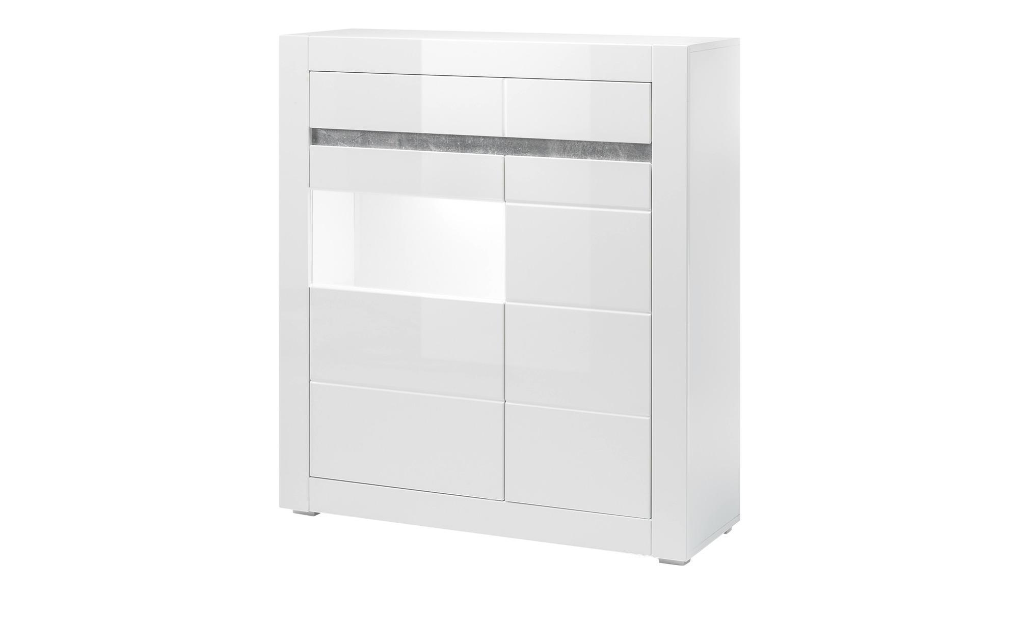 Highboard Carat - weiß - 100 cm - 112 cm - 35 cm - Sconto