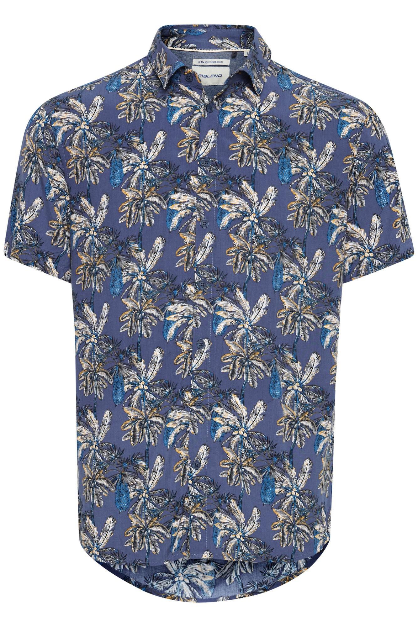 BLEND Kurzarmhemd 'BLEND' blau