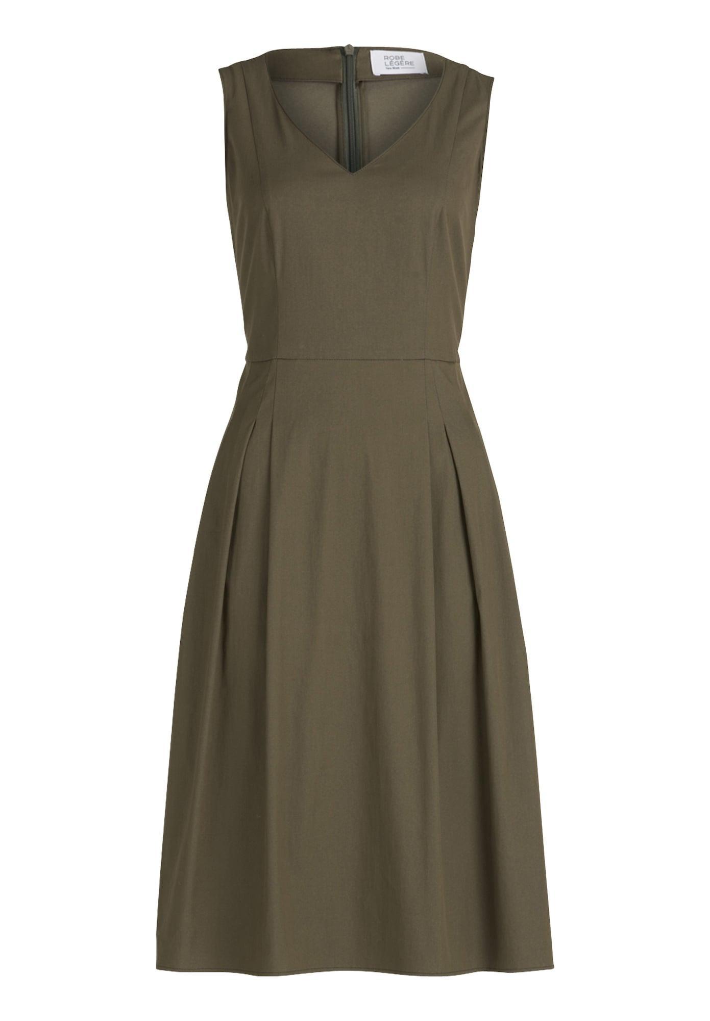 Vera Mont Sommerkleid mit V-Ausschnitt grün