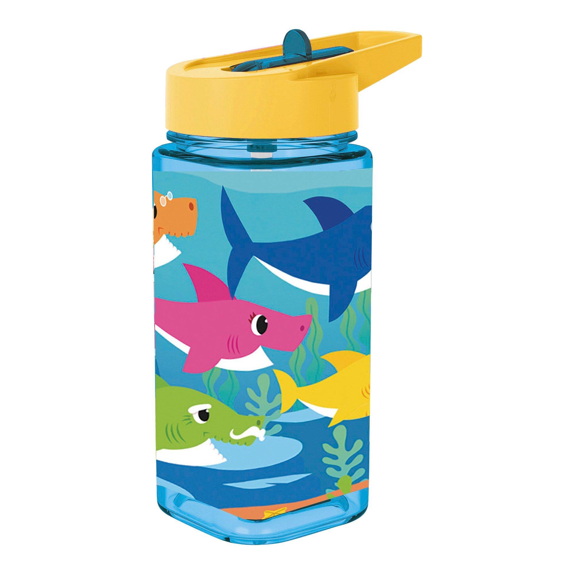 Trinkflasche Baby Shark eckig 530 ml
