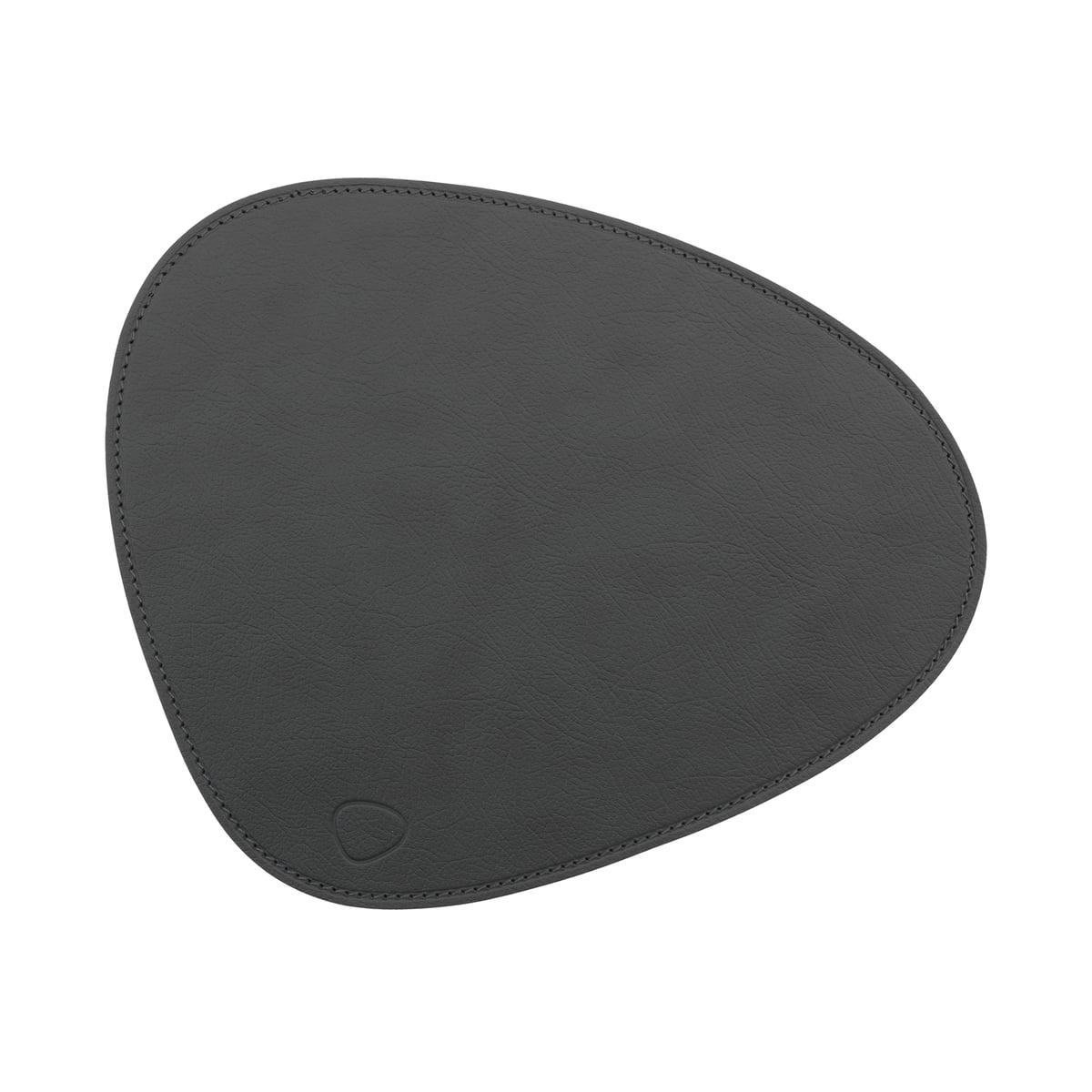 LindDNA - Mouse Mat Curve, Cloud anthrazit / Naht anthrazit