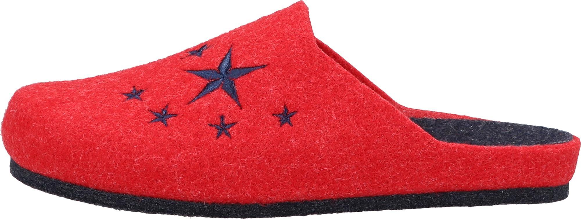 COSMOS COMFORT Hausschuh rot / navy