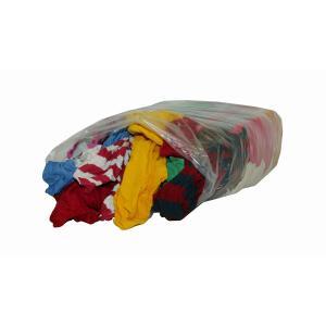 Bunte Trikotputzlappen, Farbige Putzlappen aus Baumwollgewebe, 10 kg - Ballen