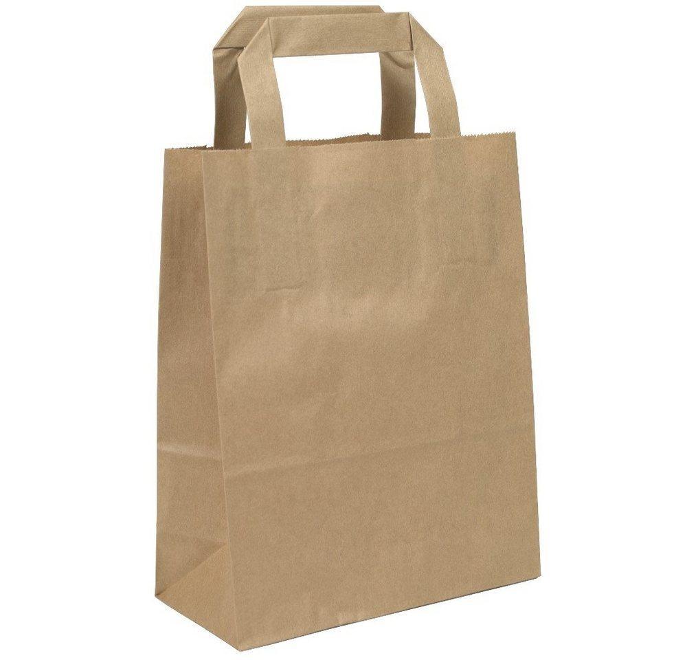 KK Verpackungen Tragetasche (250-tlg), Papiertragetaschen Papiertüten Papiertaschen Tragetaschen 18 +8 x 22 cm