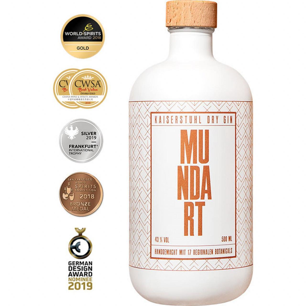 Mundart Kaiserstuhl Dry Gin 43% 0,5l