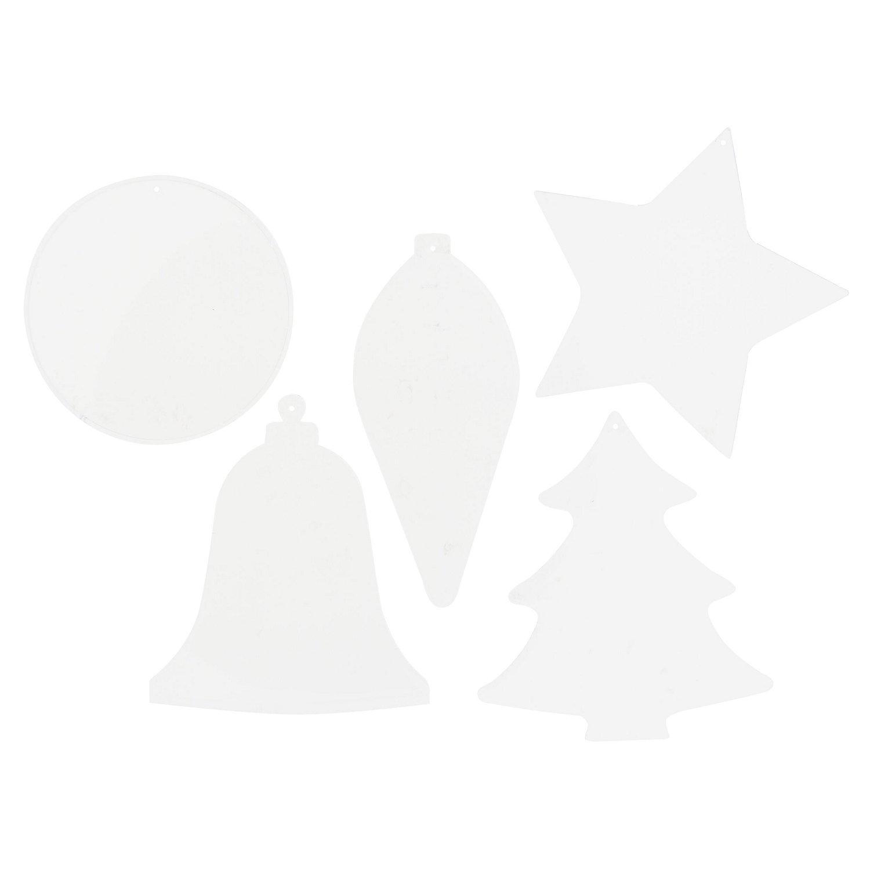 """Kunststoff-Malscheiben """"Weihnachten"""", 5 Stück"""