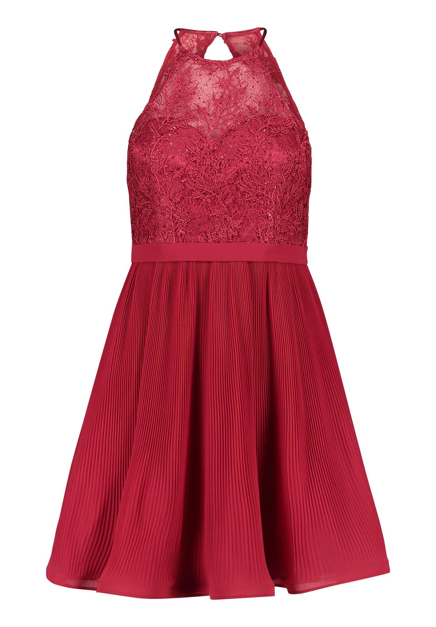 Vera Mont Abendkleid mit Plissee rot