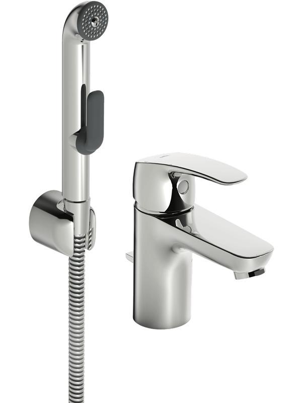 Oras safira washbasin with bidetta handshower and pop up was
