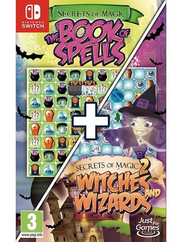 Secrets of Magic 1 & 2  The Book of Spells + Witches and Wizards (Code in a Box) - Nintendo Switch - Puzzle - PEGI 3