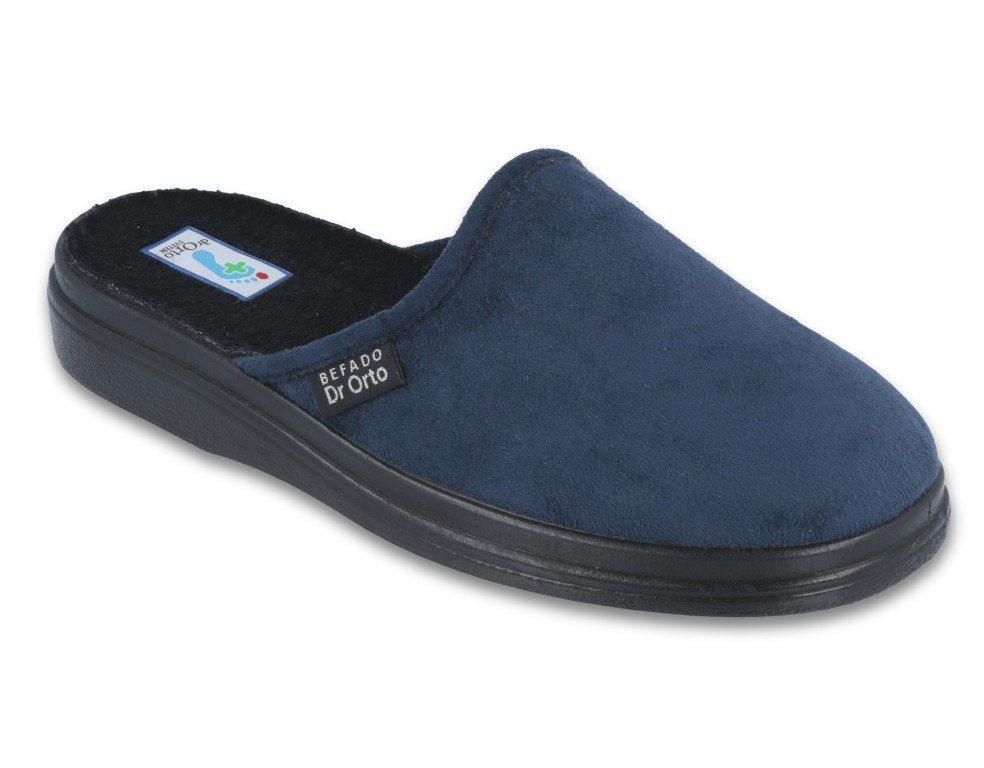 Dr. Orto »Medizinische Schuhe für Herren« Hausschuh Gesundheitsschuhe, Präventivschuhe, Pantoffeln, Hausschuhe, blau