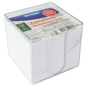 STYLEX® Zettelbox, Ca. 700 Zettel für allerlei Notizen, 1 Box = 700 Blatt, weißes Papier