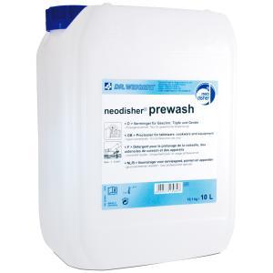 Dr. Weigert neodisher prewash Geschirrvorreiniger, Vorreiniger für stark verschmutztes Geschirr, Töpfe und Geräte, 10 Liter - Kanister