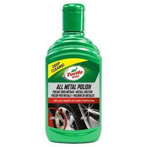 TURTLE WAX Chrompolitur, Perfekter Wachs für Chrom Teile, 300 ml - Flasche