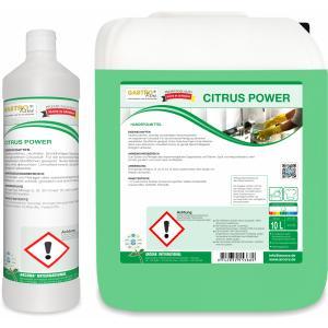 CITRUS POWER Handspülmittel, Hautfreundliches, neutrales, tensidhaltiges Geschirrspülmittel, 1 Liter - Flasche
