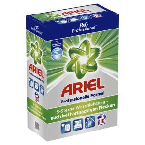 P&G Professional Ariel Vollwaschmittel Pulver, Professionelles Waschmittel mit hervorragender Reinigungskraft, 7,15 kg – 110 Waschladungen